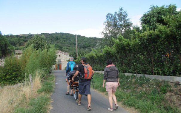 En Joëlette, vers le hameau de Fouilho